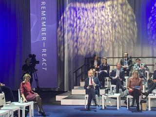 Ministr Kulhánek přednesl projev na Mezinárodním fóru k připomínce holocaustu a boji proti antisemitismu