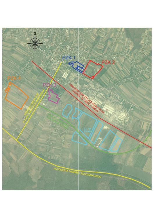 Plán zóny Kutina