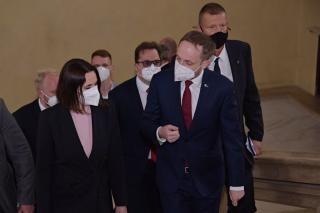 Ministr Kulhánek při jednání se Svjatlanou Cichanouskou vyjádřil podporu běloruské opozici