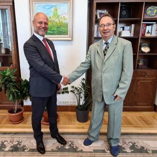 Petr Angyalossy a předseda Ústavního soudu Rumunska Valer Dorneanu