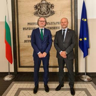 Petr Angyalossy a předseda Nejvyššího kasačního soudu Bulharska Lozan Panov